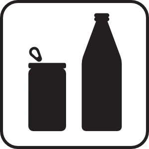 free vector Cans Or Bottles White clip art