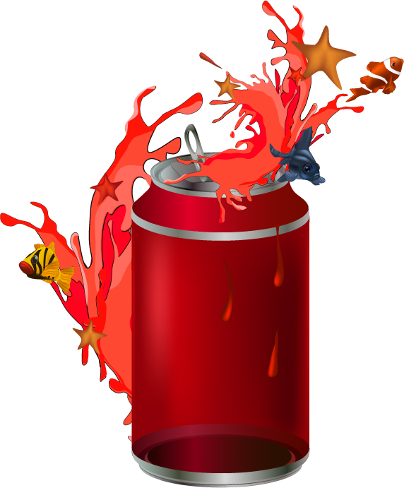 free vector Cans theme vector