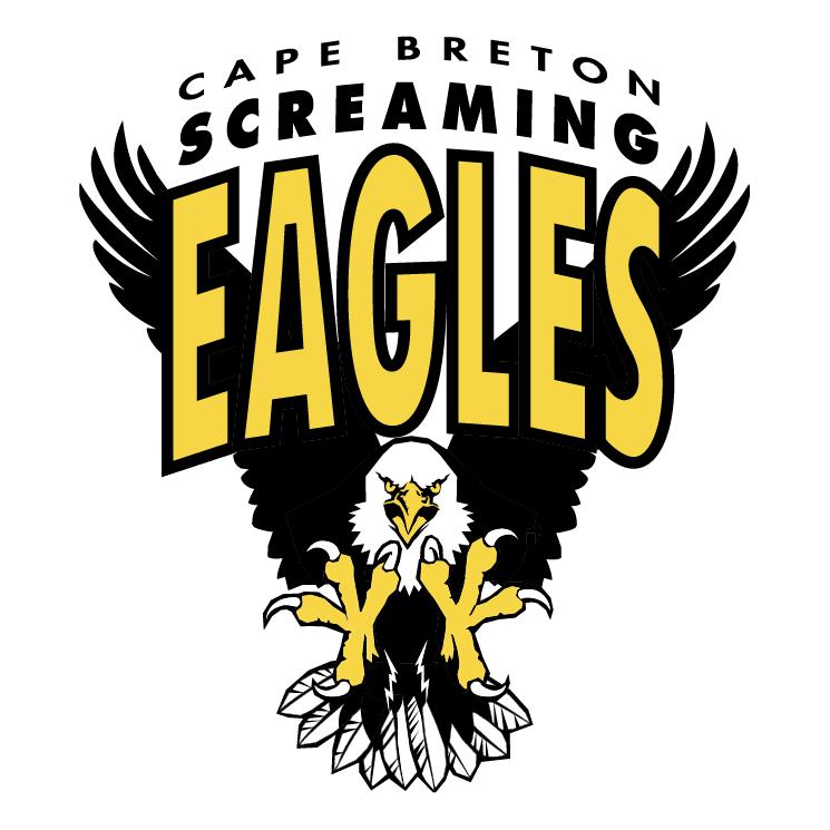 free vector Cape breton screaming eagles