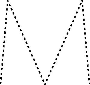 free vector Capital Letter M clip art