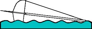 free vector Capsized Sailing Illustration 1 clip art