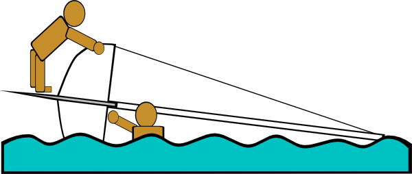 free vector Capsized Sailing Illustration 4 clip art