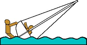 free vector Capsized Sailing Illustration 5 clip art