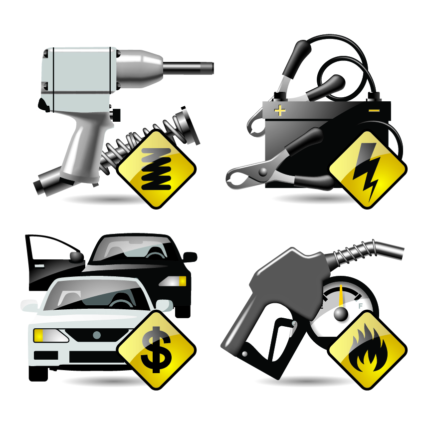 free vector Car around the theme icon vector