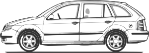 free vector Car Compact Fabia Side View clip art