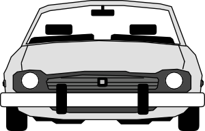 free vector Car Front View clip art