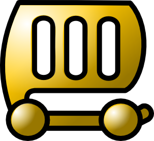 free vector Car Gold Theme clip art