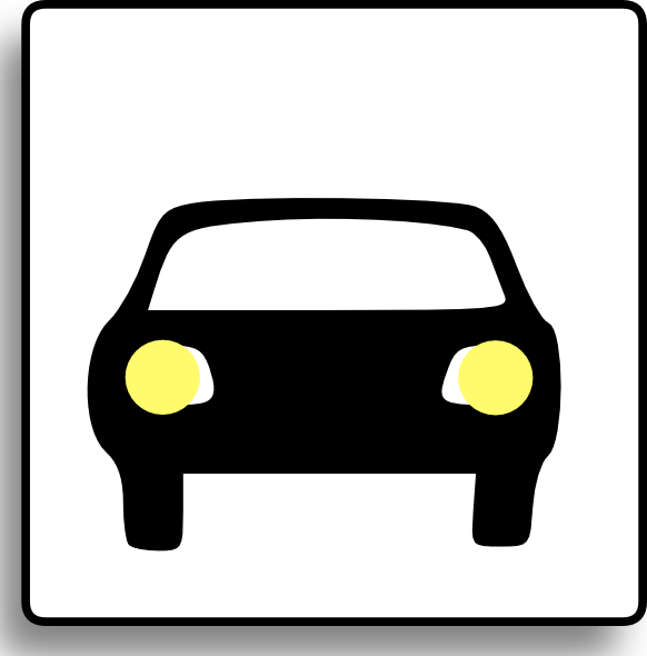 free vector Car Icon For Use With Signs Or Buttons clip art