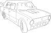 free vector Car Lada Outline clip art