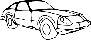 free vector Car Outline Modified clip art