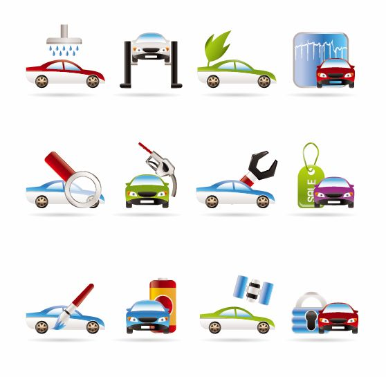free vector Car Services Vector Icons