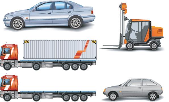 free vector Car truck car vector hoists