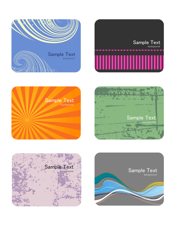 free vector Card background color pattern vector