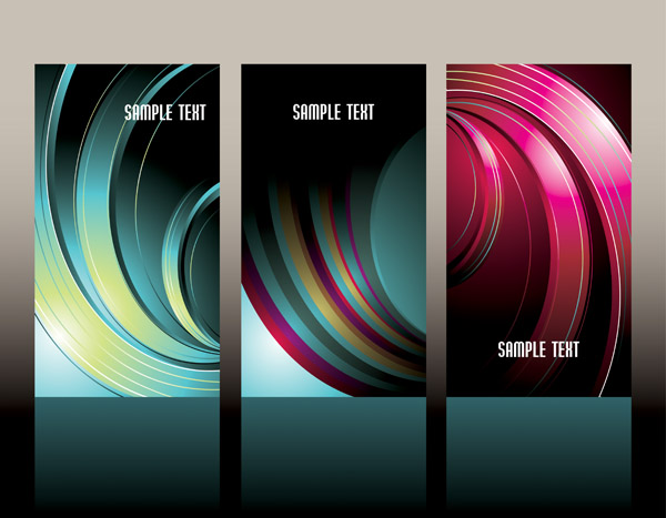 free vector Card background colorful pattern vector