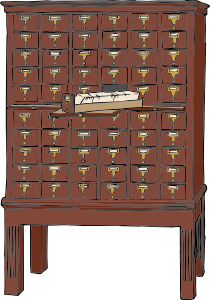 free vector Card Catalog Furniture clip art