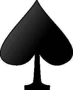 free vector Card FiguresSpade clip art