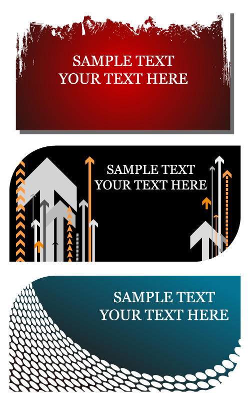 free vector Card template vector background material