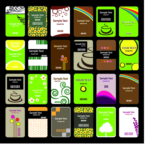 free vector Card template vector cute background