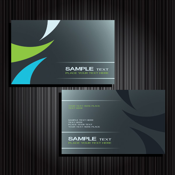 free vector Card template vector fashion