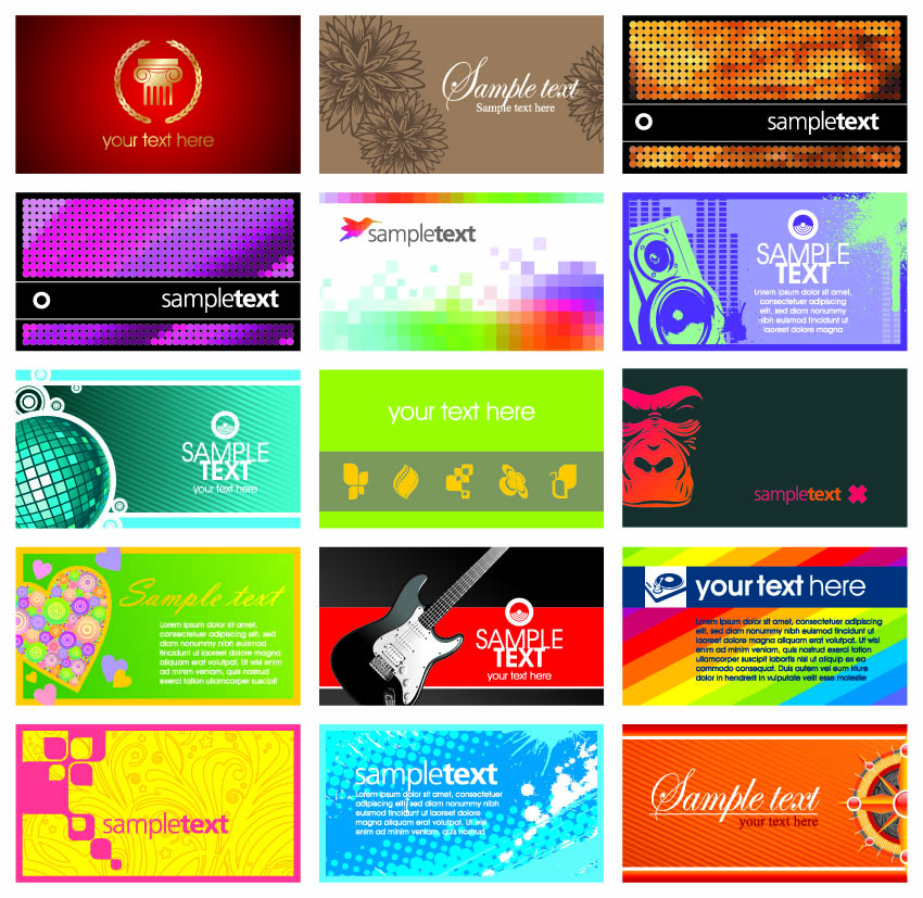 Card template vector the trend Free Vector 4Vector – Sample of Name Card