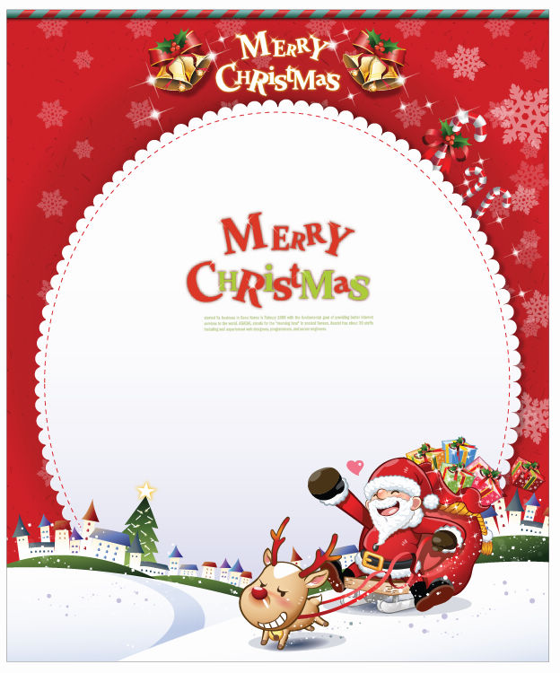 free vector Card with Santa Claus