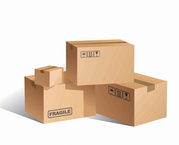 free vector Cardboard boxes blank vector
