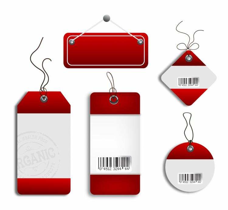 free vector Cardboard sales tags