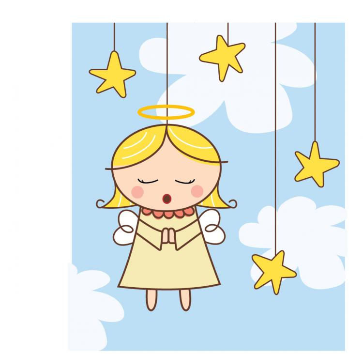 free vector Cartoon angel vector