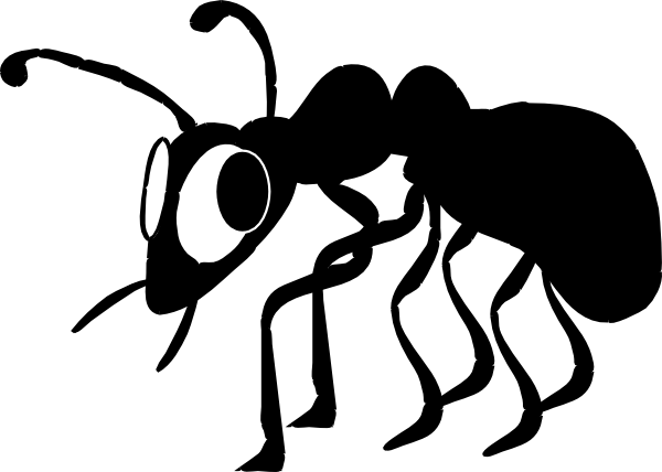 free vector Cartoon Ant Silhouette clip art
