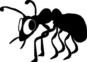 free vector Cartoon Ant Silhouette clip art