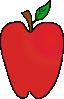 free vector Cartoon Apple clip art