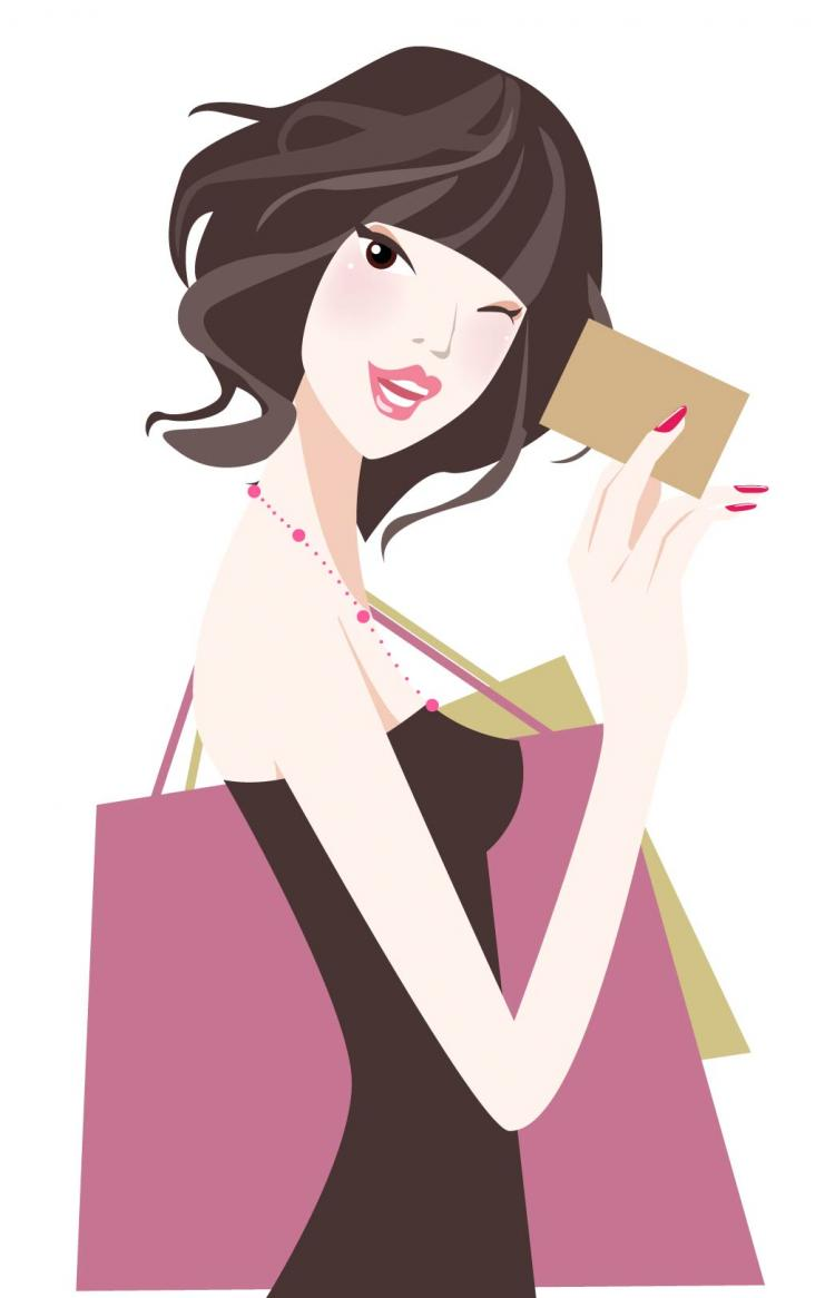 free vector Cartoon beauty illustrator 01 vector