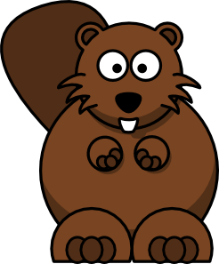 free vector Cartoon Beaver clip art