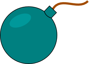 free vector Cartoon Bomb clip art