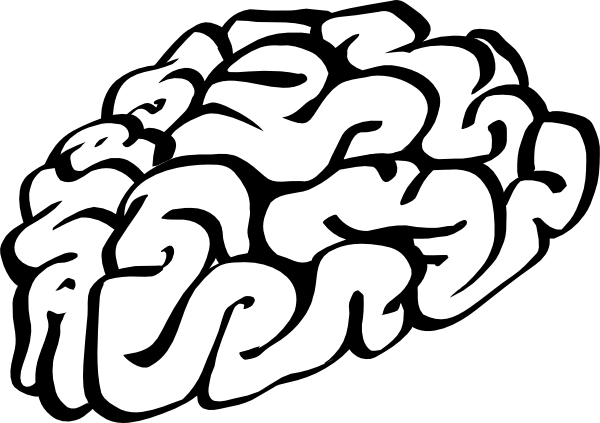free vector Cartoon Brain Outline clip art