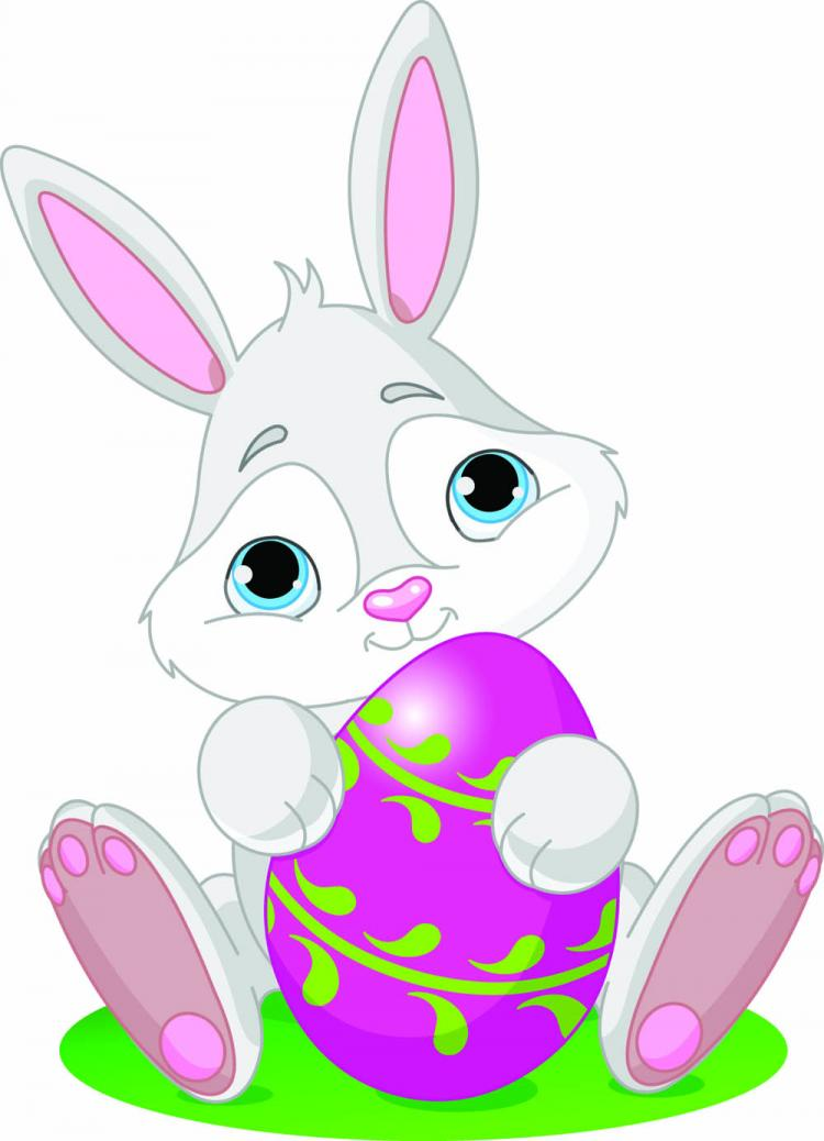 free vector Cartoon bunny and egg 04 vector