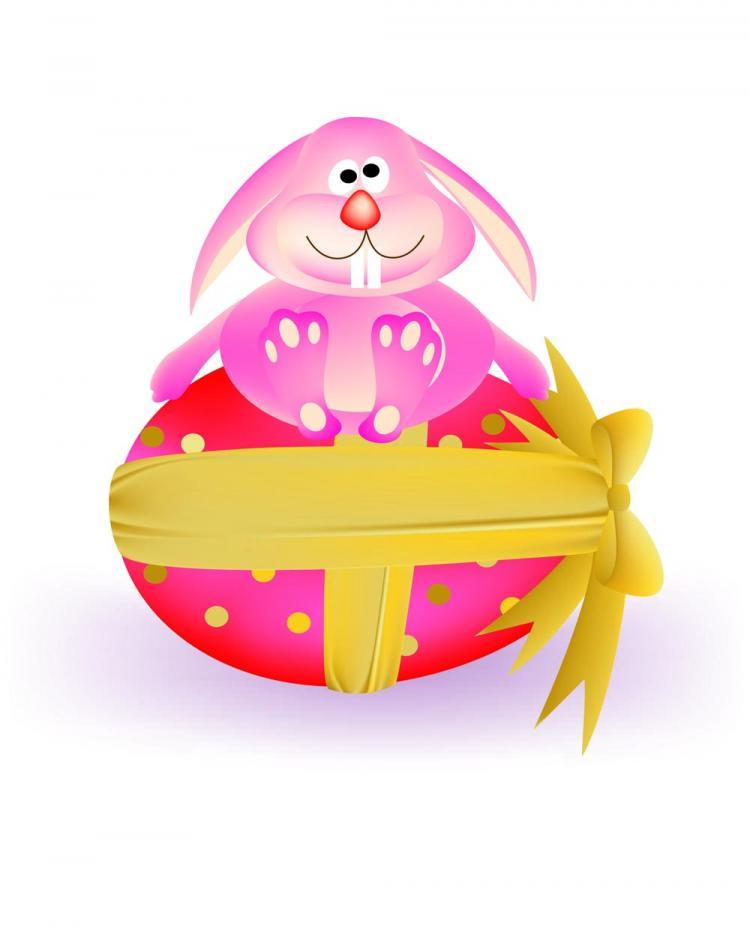 free vector Cartoon bunny and egg 05 vector