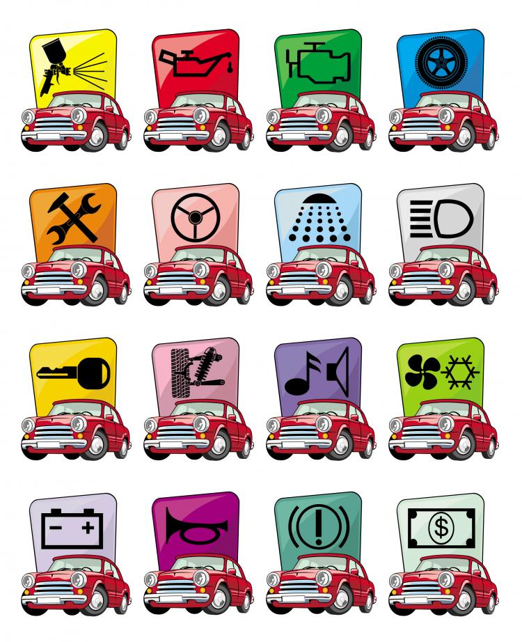 free vector Cartoon car icon vector