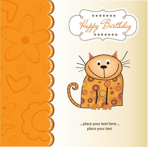 free vector Cartoon cat 04 vector