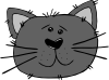 free vector Cartoon Cat Face clip art