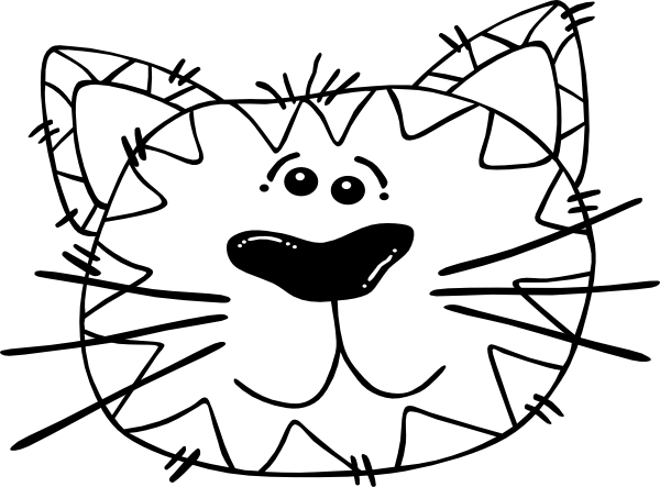 Images Of Cartoon Cat Face Clipart