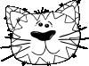 free vector Cartoon Cat Face Outline clip art