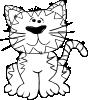 free vector Cartoon Cat Sitting Outline clip art