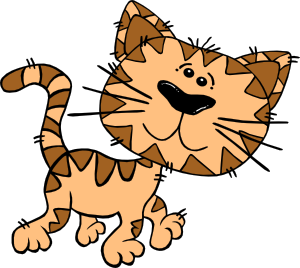 free vector Cartoon Cat Walking clip art