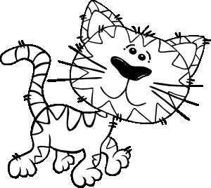 free vector Cartoon Cat Walking Outline clip art