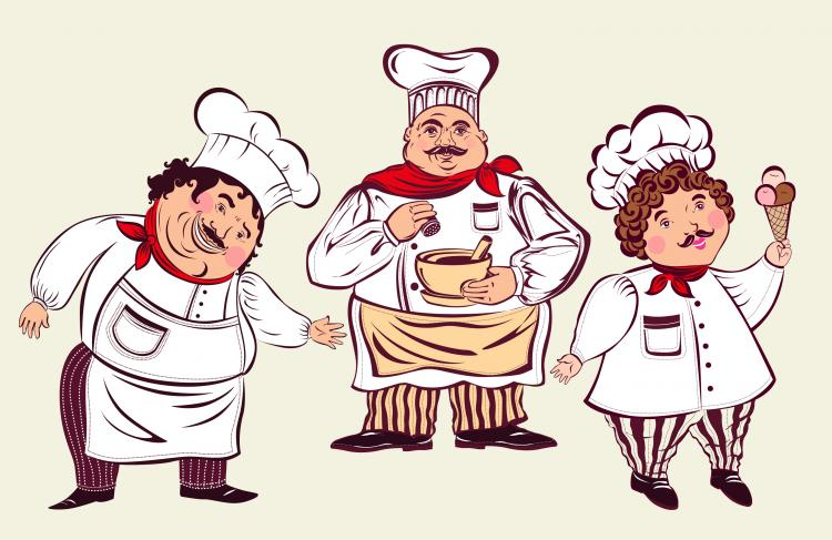 Cartoon restaurant free vector graphic download - Cartoon Characters Chef 02 Vector
