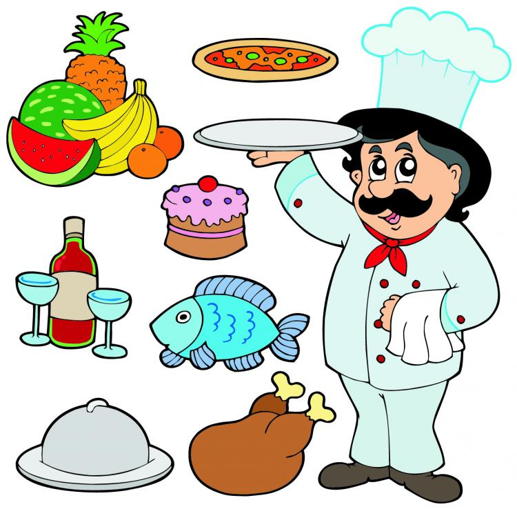 free vector Cartoon characters chef 05 vector