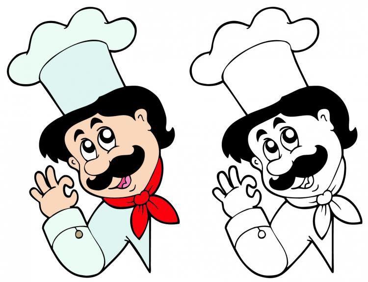 Cartoon restaurant free vector graphic download - Cartoon Characters Chef 06 Vector