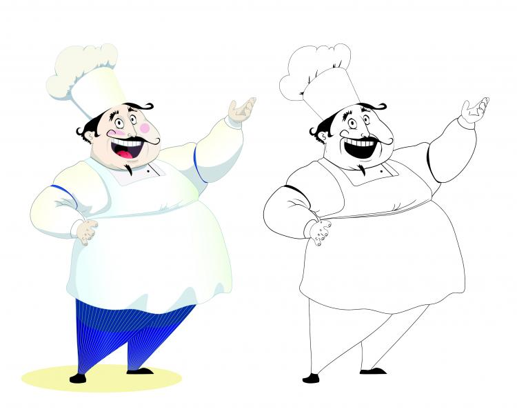 free vector Cartoon characters chef 08 vector