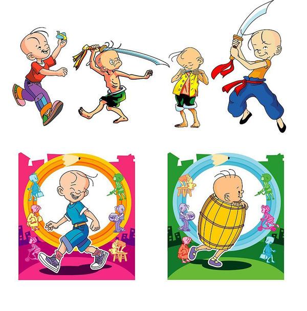 free vector Cartoon characters vector